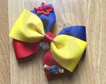 Snow white bow, Snow white headband, Princess bow, Princess headband