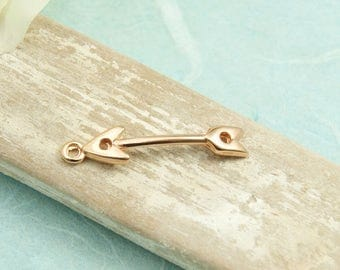 1 pcs arrow 30mm rosegold plated #4067