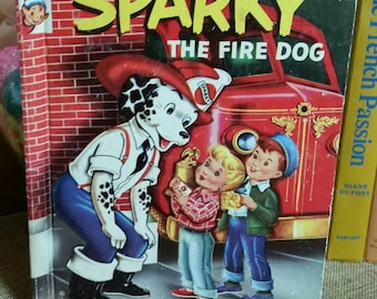 "Rand Mcnally Elf Book ""Sparky The Fire Dog"" By James Browning/Vintage 1954/Collectible Children's Book/Nursery Decor/Baby Shower Decor"