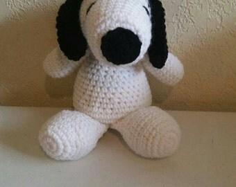 Crochet Snoopy Dog, Crochet Puppy, Dolls, Toys, Plushy, Stuffed Animal, Girl or Boy Birthday Gifts