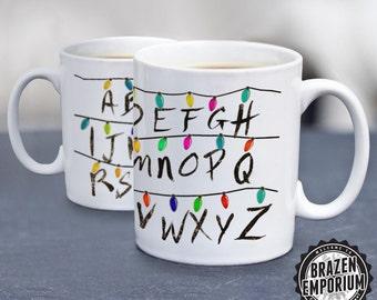 Stranger Things Mug, Stranger Things Alphabet Wall, Stranger Things Lights, Stranger Things Cup, Funny Coffee - Tea Mug