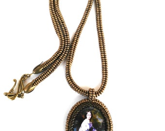 "Necklace style vintage ""Isabella""/Necklace of beads/Necklace/pendant/necklace"