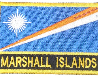 Marshall Islands Embroidered Sew or Iron on Patch Badge