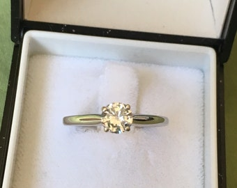 Diamond Solitaire .50 ct White Gold Engaement Ring