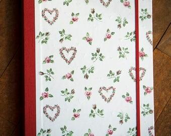 Folder document holder A4 handmade, paper and fabric.