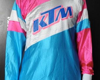 Vintage KTM Jersey Motor Motocross Motorcycle Bike DirtBike Shirt Size 9 (L) Exremely Rare 80s