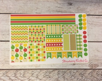 Apple Picking Themed Planner Stickers-Made to fit Horizontal Layout