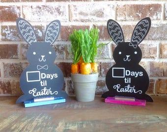 Easter Rabbit Countdown-Chalkboard Easter Rabbit