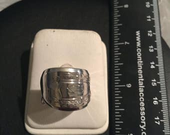 Vintage Sterling Silver Spoon Ring  - Size 8-1/4 - AB