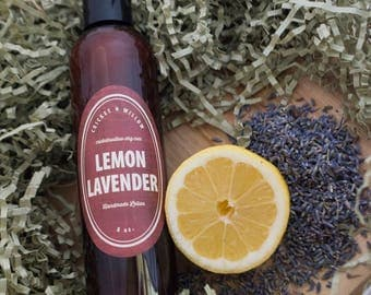 Best Body Lotion Dry Skin- Lemon Lavender Silk Hand and Body Lotion -  moisturizing skincare, organic shea, natural beauty products