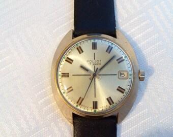 Poljot Gold Plated Case, soviet watch, 17jewels, mens watch, gold plated russian watch, mechanical watch, mens gold watch