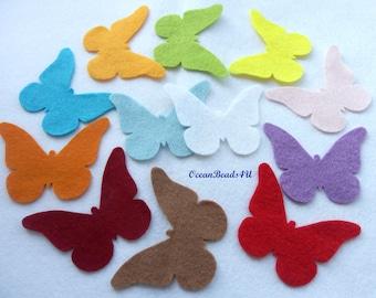 24 Spring Felt Butterflies