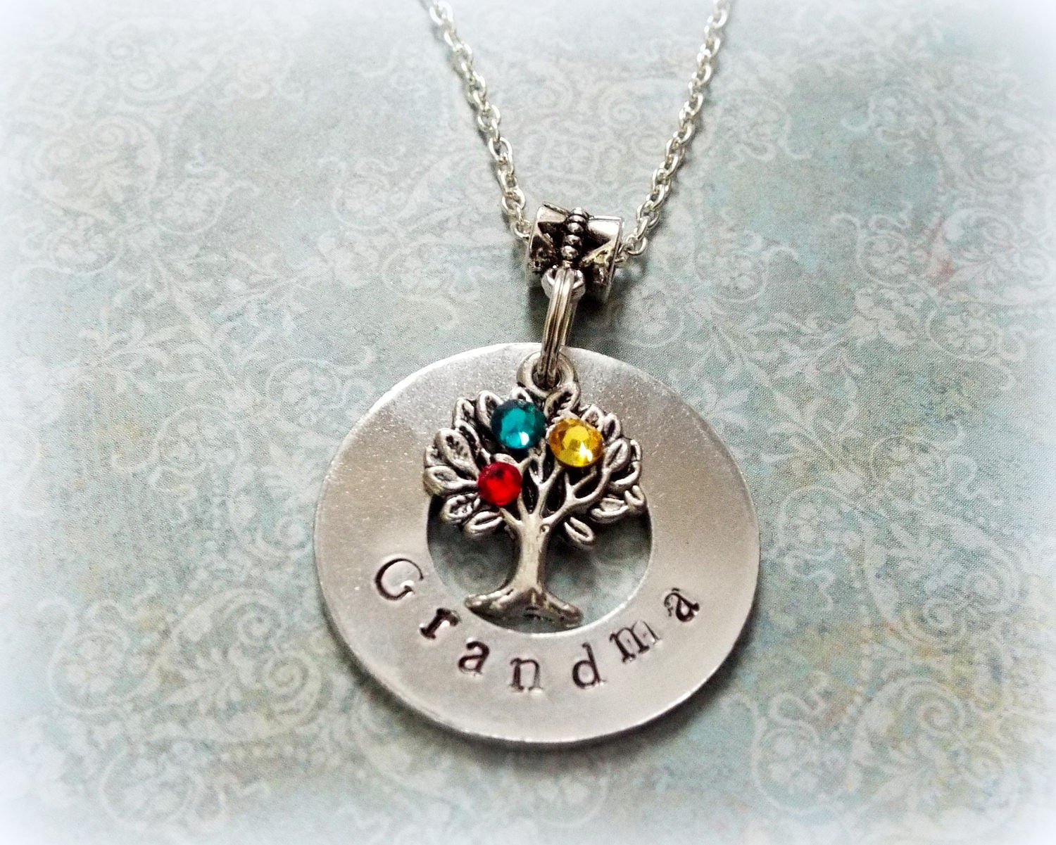 Grandmother Wedding Gift: Grandmother Necklace Gift, Personalized Grandmother