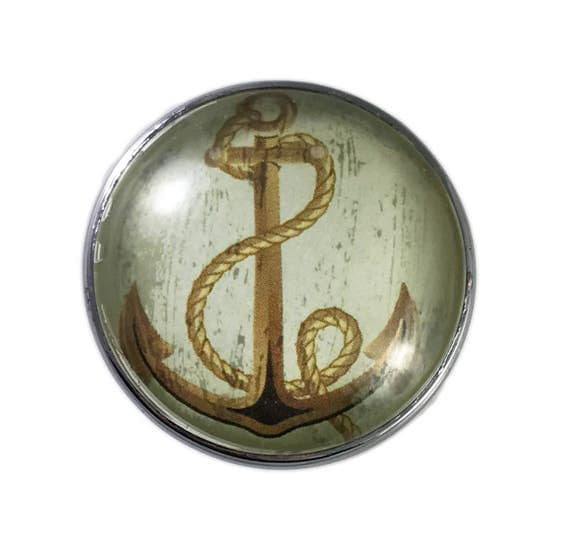 nautical cabinet knobs nautical boat ship brown anchor glass dresser drawer 23714