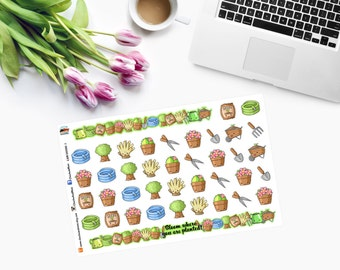GARDEN TOOLS and Washi Strips Planner Stickers CAM00056-1