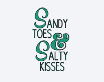 Sandy Toes & Salty Kisses - Beach Decal - Home Wall Decor - Car Decal