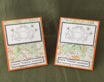 Toadally Awesome Notecards - blank inside