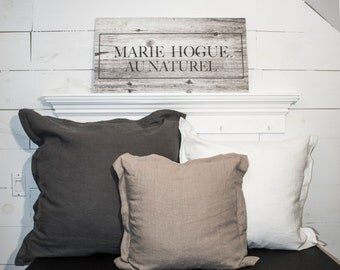 "Euro pillow cover / 100% linen / 20 ""X 20"""