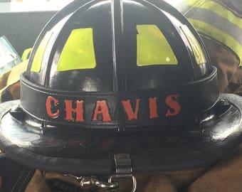 Firefighter Leather Helmet Band