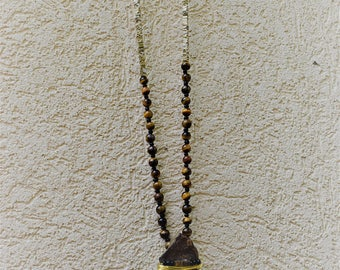 Tiger's Eye Wire Wrap Necklace