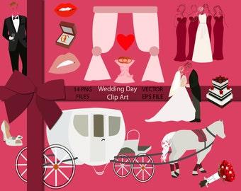 70% OFF SALE Wedding Clip Art, Wedding Clipart, Vector Wedding Clip Art, Vector Elements, Vector Design, Wedding Design, Bride and Groom