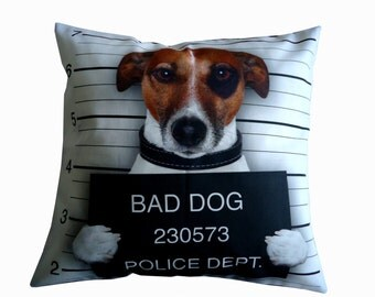 Bad dog cushion