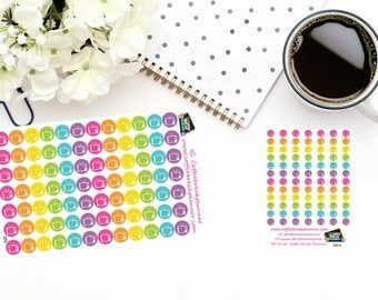 Planner Stickers|TV Icon Dot Stickers |Television Stickers| For use with planners and journals|2 sizes available|I009 I009M