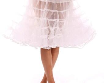 "Crinoline petticoat KNEE Length Retro 1950s Slip Many Colors 23"" Long"