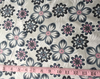 Flower Flannel HALF YARD