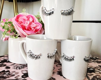 Eyelashes bling mug