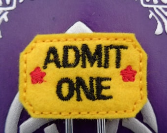 Admit - Movie Ticket Jumbo Clip - PaperClip - Felt Planner Clip - Planner Accessory - Stationery - Cute Paper Clip - Bookmark - Planner Clip