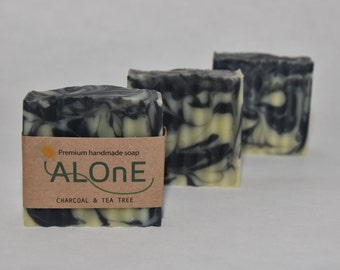 Charcoal & Tea Tree Vegan Soap Bar