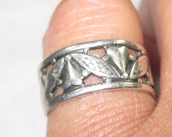H-47 Vintage Ring size 6  925  silver