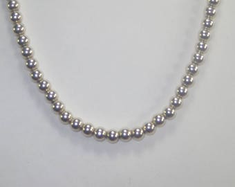 E-102 Vintage   Necklace 925 silver choker