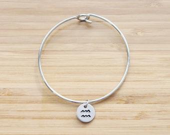 hand stamped charm bracelet | zodiac