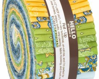 La Provence 2-1/2 Inch Strips Jelly Roll, 40 Pieces, Robert Kaufman, Precut Fabric, Quilt Fabric, Cotton Fabric