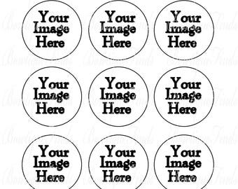 CUSTOMIZED 15 - 1 Inch Image Sheet DIGITAL Download. Cupcakes, Bottle Caps, Stickers, Birthdays, Party