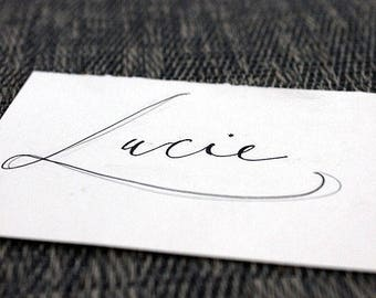 Calligraphy for address • name • table number