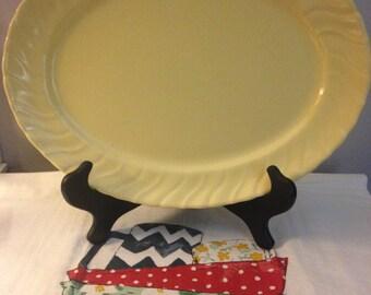"Vintage Franciscan Yellow Coronado 13"" Oval Serving Platter - 1940's"
