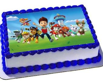 Paw Patrol Edible Cake Topper, Premium frosting sheet, Paw Patrol Birthday Party