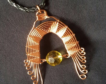 Aztec Style Wire Wrapped Pendant
