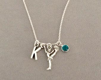 Cheerleader gift, cheerleading gifts, personalised cheerleader necklace, cheerleading necklace, cheerleader jewelry, cheerleading jewellery