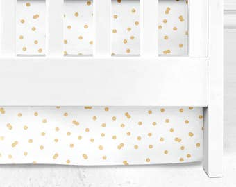 Gold Crib Skirt, straight crib skirt, Baby Bedding, Baby girl Crib Skirt, gold bedding, baby girl bedding, gold nursery, Gold nursery