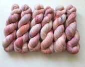 Sock Hand Dyed Australian 80/20 Merino nylon Revelry Sock Fingering 4 ply Knitting Yarn Spotted Turtle Dove