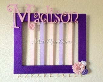 Customized Headband Holder-Personalized Bow Holder- Picture Frame Headband and Bow Holder-Headband and Bow Holder with Name