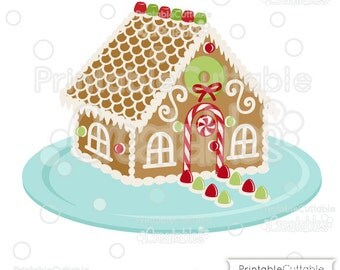 Christmas Gingerbread House SVG Cut File & Clipart E219 - Includes Limited Commercial Use!