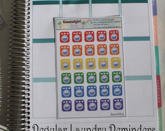 Laundry reminder chores planner stickers       1 sheet