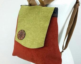 Canvas Backpack, Eco Backpack, Handmade backpack, Travel backpack, women backpack,Gift for her,Teacher gifts,Birthday gift,Vegan bag