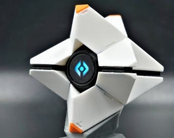 Destiny Ghost Replica with LED Light 3D Printed Display Stand Included
