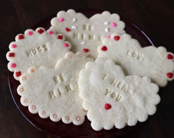 Imprinted Valentine Sugar Cookies